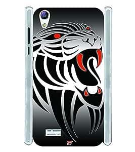 Tatto Tiger Design Soft Silicon Rubberized Back Case Cover for Vivo Y31