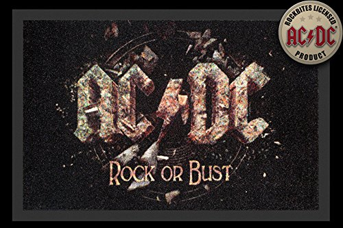 AC/DC - Rock or busto - ZERBINO, dimensioni: 60 x 40 cm, materiale in polipropilene