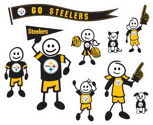 NFL Pittsburgh Steelers Large Family Decal Set (Steelers Family Car Decals compare prices)