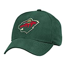 NHL Minnesota Wild Basics Structured Adjustable Cap, One Size, Green