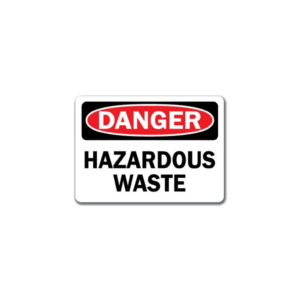 Danger Sign   Hazardous Waste   10 x 14 OSHA Safety Sign
