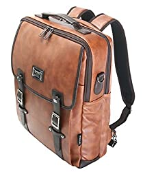 Tan 15 Laptop Backpack Messenger Tote Bags Synthetic Leather