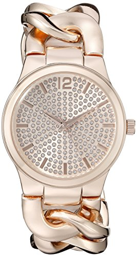 Vernier Paris Women's VNRP11201RG Analog Display Japanese Quartz Rose Gold Watch