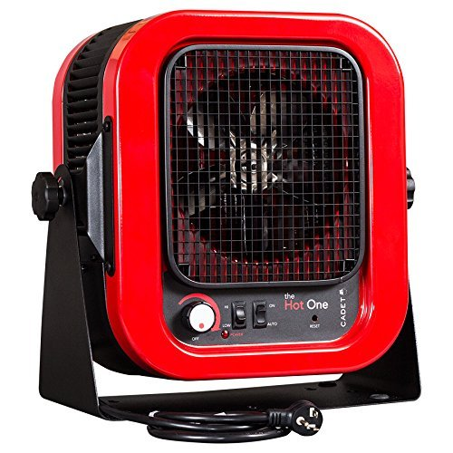 "Cadet RCP402S Space Heater, ""The Hot One"" Portable with Bracket, 4000W, 20 Amp, Red"
