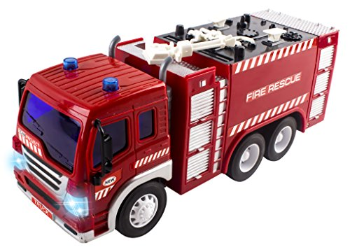 Remote-Control-Fire-Truck-RC-Truck-Rescue-Heroes-116-Four-Channel-Full-Function-w-Lights-Music-Battery-Powered-RC-Truck-Toy