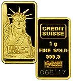 金地金 金 インゴット 1g 高純度 .9999 Pure gold スイスCredit Suisse社 並行輸入品