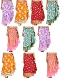 Wholesale Lot of 20 Pcs Printed Two Layer Long Wrap Around Skirt