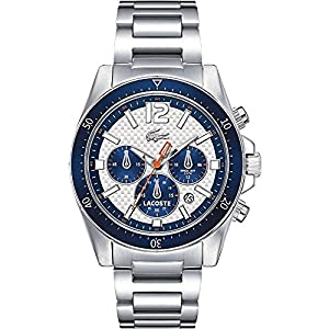 Lacoste Watches Men's Seattle Chronograph Watch With White Dial