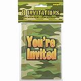 Camo Party Invitations, 8ct