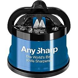 AnySharp Messerschärfer mit Saugnapf, Blau