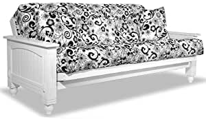 Westport Home Cottage Futon, Full, White