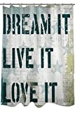 Thumbprintz Shower Curtain, American 2-Dream It, Live It, Love It