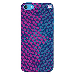Pikn & Blue Heart - Mobile Back Case Cover For Apple Iphone 5C