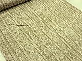 リアルプリント 縄編みニット ベージュ オックス生地     |生地|布|コットン|綿|エプロン|インテリア|カバー|シーツ|カーテン|目隠し|実写|そっくり|