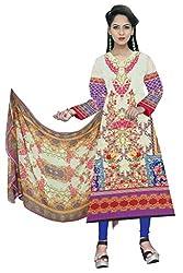 BalajiWomen's Cotton Unstitched dress material(1012-multicolor-free size)