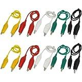 10 Pcs 5-Color Double Ended Alligator Clips Test Lead Jumper Wire 50cm 1.6 Ft