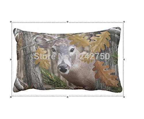 Seattle night New Design Hand-Painted Watercolor Deer Pattern Pillow Covers Linen Pillowcase 20X30 Inch