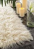 Hand Woven Flokati Shag New Zealand Wool Natural Shag Area Rugs, 5 Feet by 7 Feet (5' x 7')