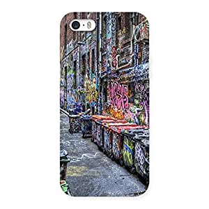 Color Art Streets Multicolor Back Case Cover for iPhone SE