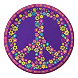 Creative Converting Groovy Girl Round Dinner Plates, 8 Count