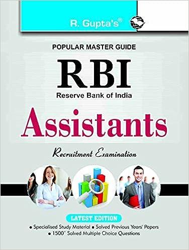 Reserve Bank of India Assistants Recruitment Exam Guide price comparison at Flipkart, Amazon, Crossword, Uread, Bookadda, Landmark, Homeshop18