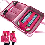 Ultimate Addons Girls Travel Vinyl PU Handbag Storage Case for Leapfrog LeapPad Ultra (Pink)