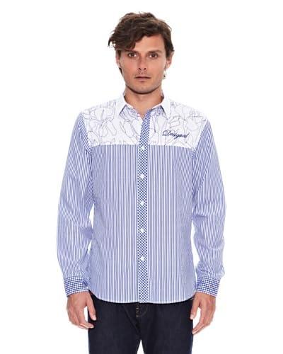 Desigual Camisa Ifonica Blanco / Azul