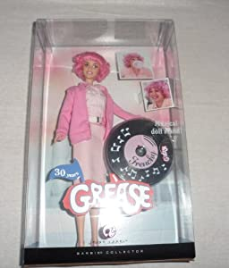 Barbie Pink Label Barbie Collector Grease Frenchy doll By Mattel in 2007 - The Stand Is faulty and does not play music