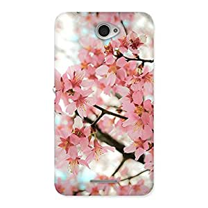 Ajay Enterprises Wo Pink Cherry Blossoms Multicolor Back Case Cover for Sony Xperia E4