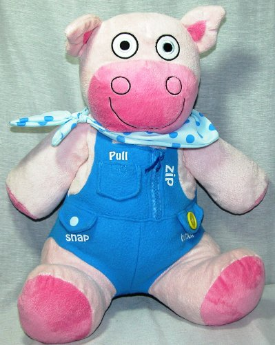 "Avon Tiny Tillia 14"" Pig Baby Boom Blue and Pink Plush - 1"