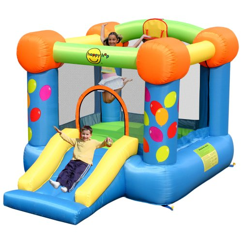 Party Slide and Hoop Bouncy Castle 9070 model By Duplay The No.1 Supplier Of Bouncy Castles To The Uk Home Market. SALE NOW ON FOR SUMMER - FROM OUR 2011 OUTDOOR PLAY RANGE.