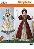 Simplicity Sewing Pattern 2325 Misses' Alice in Wonderland Costumes, R5 (14-16-18-20-22)