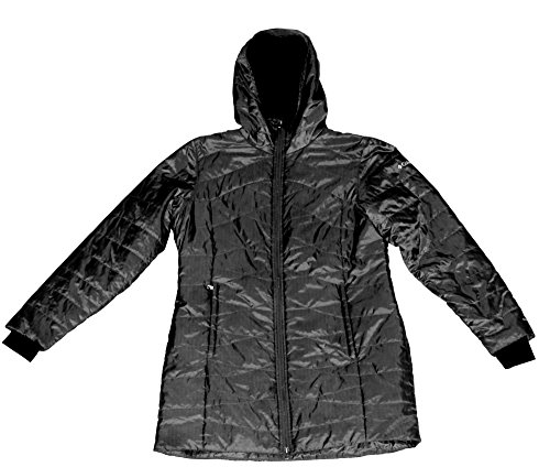 COLUMBIA WOMEN'S MORNING LIGHT OMNI HEAT LONG JACKET COAT PUFFER (XLarge, Black) (Heat Jackets compare prices)