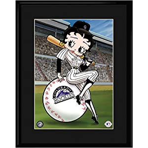 Colorado Rockies MLB Betty On Deck Collectible by Toon Art