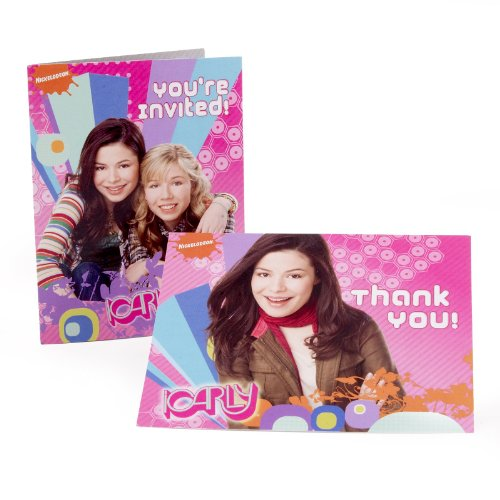 American Greetings - iCarly 8 Invitations and 8 Thank You Postcards - 1
