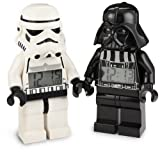 51Tzz z%2BajL. SL160  LEGO Kids 9004766 Star Wars Darth Vader and Storm Trooper Mini Figure Alarm Clock Two pack Assortment Watch