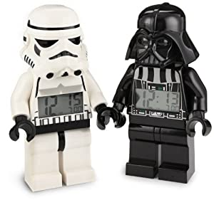 LEGO Kids' 9004766 Star Wars Darth Vader and Storm Trooper Mini-Figure Alarm Clock Two-pack
