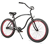 Firmstrong Chief 3.0 Man Single Speed Beach Cruiser Bicycle, 21.5-Inch /XX-Large, Matte Black