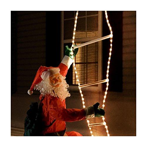 Weihnachtsmann leiter lichterschlauch beleuchtung lichter ...
