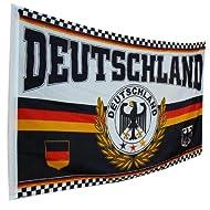 Deutschland Fahne / Motiv Adler groß 150 x 90 cm, nicht nur zur WM, EM & Eurovision Songcontest