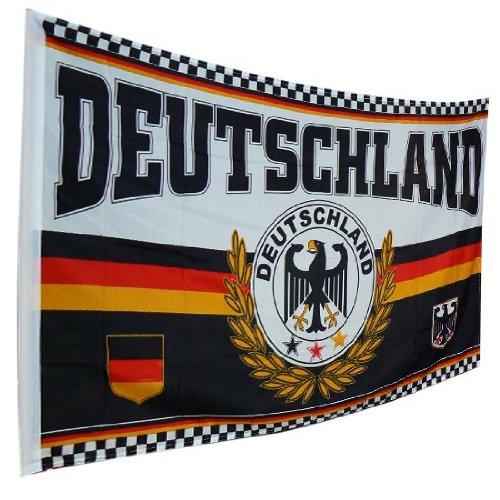Deutschland Fahne / Motiv Adler groß 150 x 90