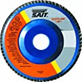 United Abrasives/SAIT 73503 4-1/2 by 7/8 Z 50X SAITlam PN Flap Disc, 10-Pack