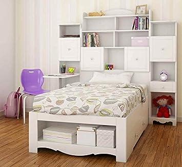 3-Pc Kids Bedroom Set in White