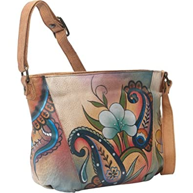 ANNA by Anuschka Medium Shoulder Bag (Floral Paisley)
