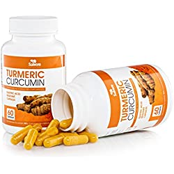 Salvere Turmeric Curcumin Capsules with Bioperine - 2 Months Supply of 500mg Gastric Acid Resistant Capsules