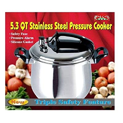 Bene Casa 33868 5.3-quart stainless steel pressure cooker. from MBR