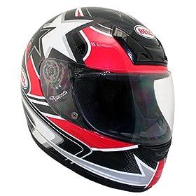 Bell Zephyr Red Stars Street Full Face Helmet - Size : Large