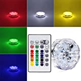 RGB Submersible LED Light - Battery Powered LED Accent Light w/ 24-key IR Remote for Wedding, Centerpiece, Halloween, Party Lights