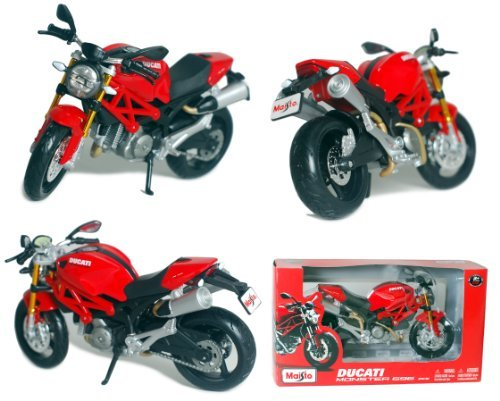 Maisto 1/12 Scale Motorcycle: 2011 DUCATI Monster 696 (Red/Black)