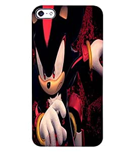 ColourCraft Angry Cat Design Back Case Cover for APPLE IPHONE 4